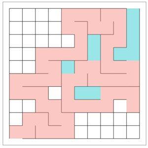 A step-by-step maze generation process
